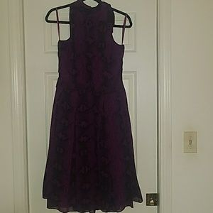 Purple and black snakeskin pattern dress